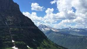 Glacier National Park on the trail to Hidden