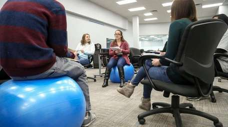 At SupplyHouse.com, employees meet at the company's Melville