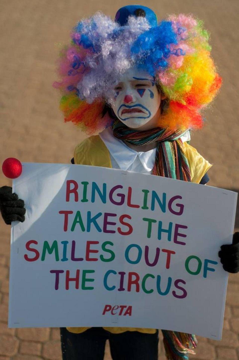 Protesting Ringling Bros Circus in Norfolk, VA, we