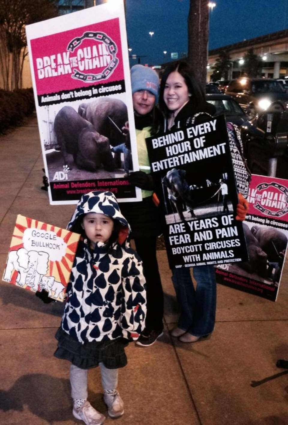 Protesting Ringling in Birmingham, AL with my then