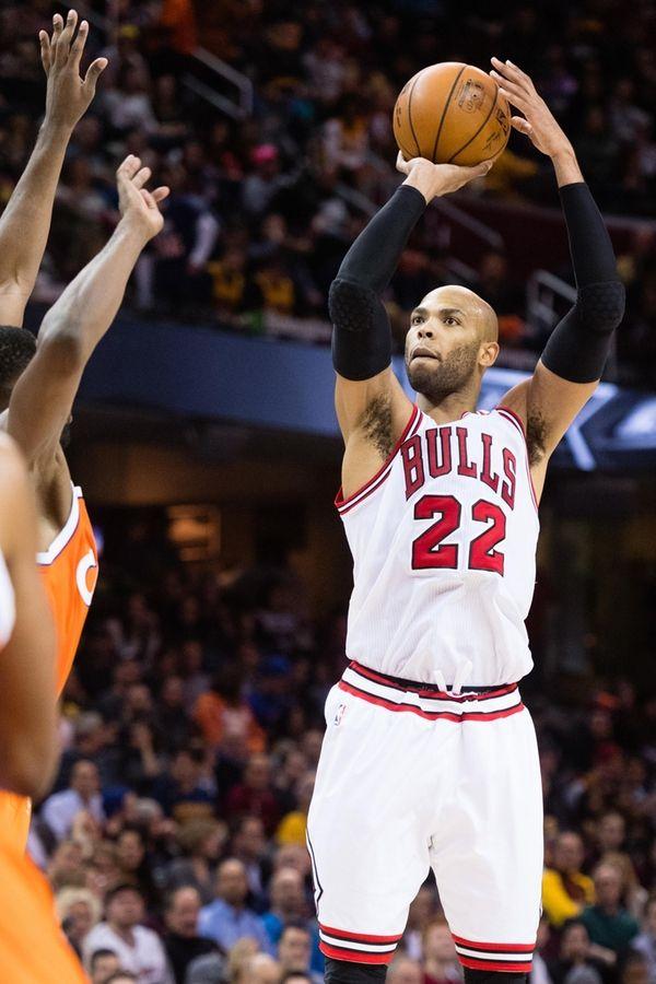 Taj Gibson #22 of the Chicago Bulls shoots