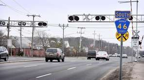 William Floyd Parkway at the LIRR crossing, south