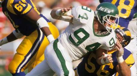 Scott Mersereau #94 of the New York Jets