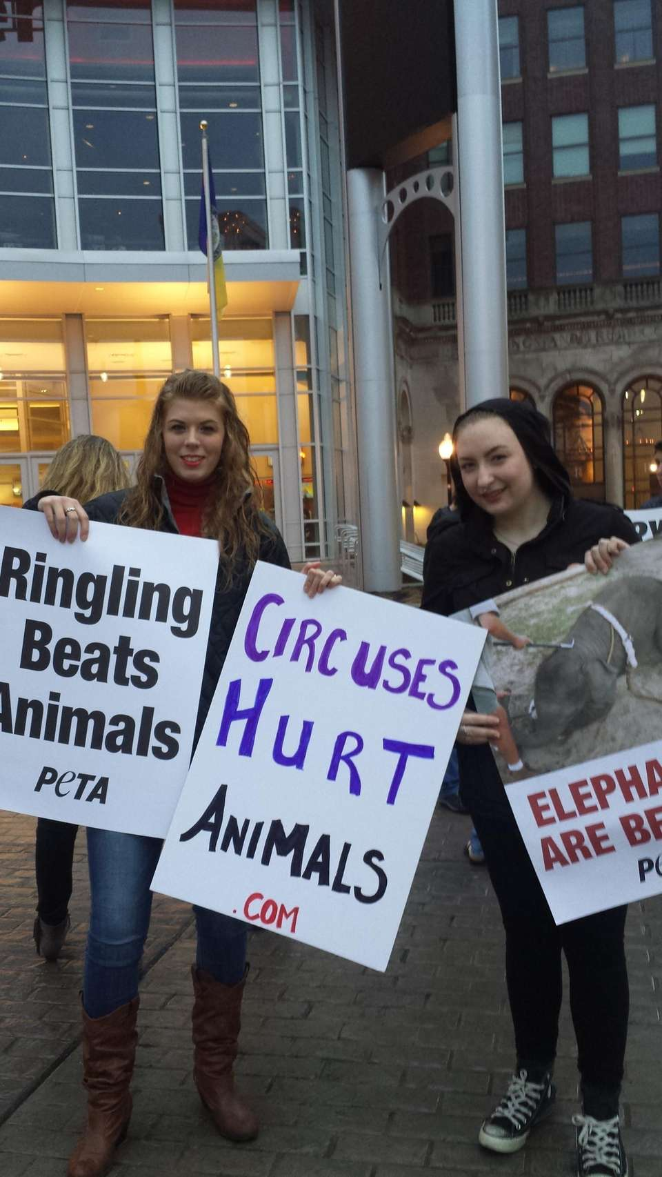 Protesting Ringling in Allentown, PA.