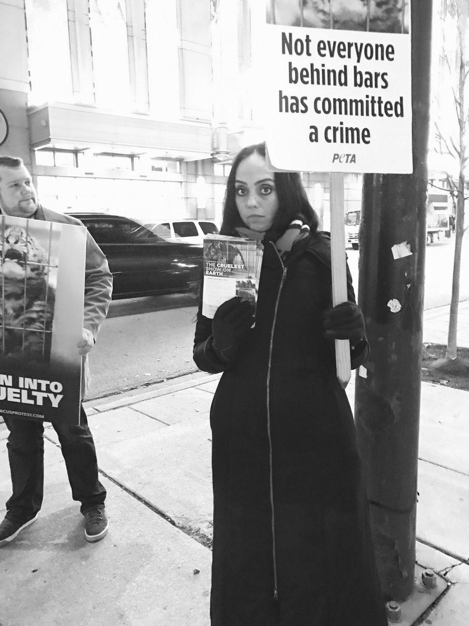Protesting RBBB Circus November 2016 at United Center