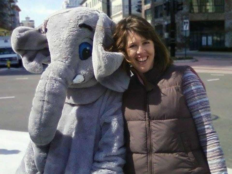 This is me and an elephant friend at