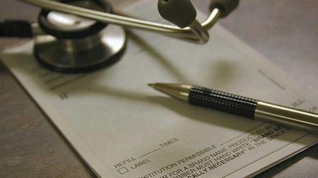 A photo of a doctor's prescription pad.