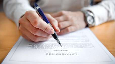 Leaving a last will and testament is a