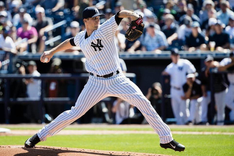 New York Yankees starting pitcher Bryan Mitchell in