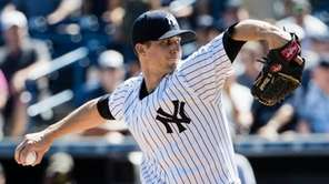 New York Yankees starting pitcher Bryan Mitchell in
