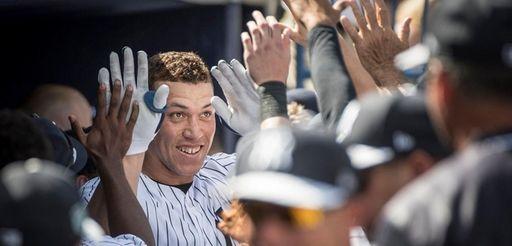 New York Yankees' Aaron Judge getting a lot