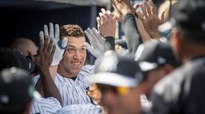 New York Yankees' Aaron Judge getting a lot