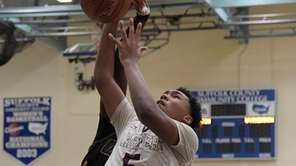 Southampton's Micah Snowden, #5, is fouled on the