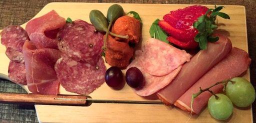 A Spanish meat board at Viaggio Wine &