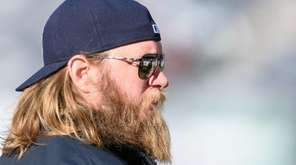 New York Jets center Nick Mangold during pregame