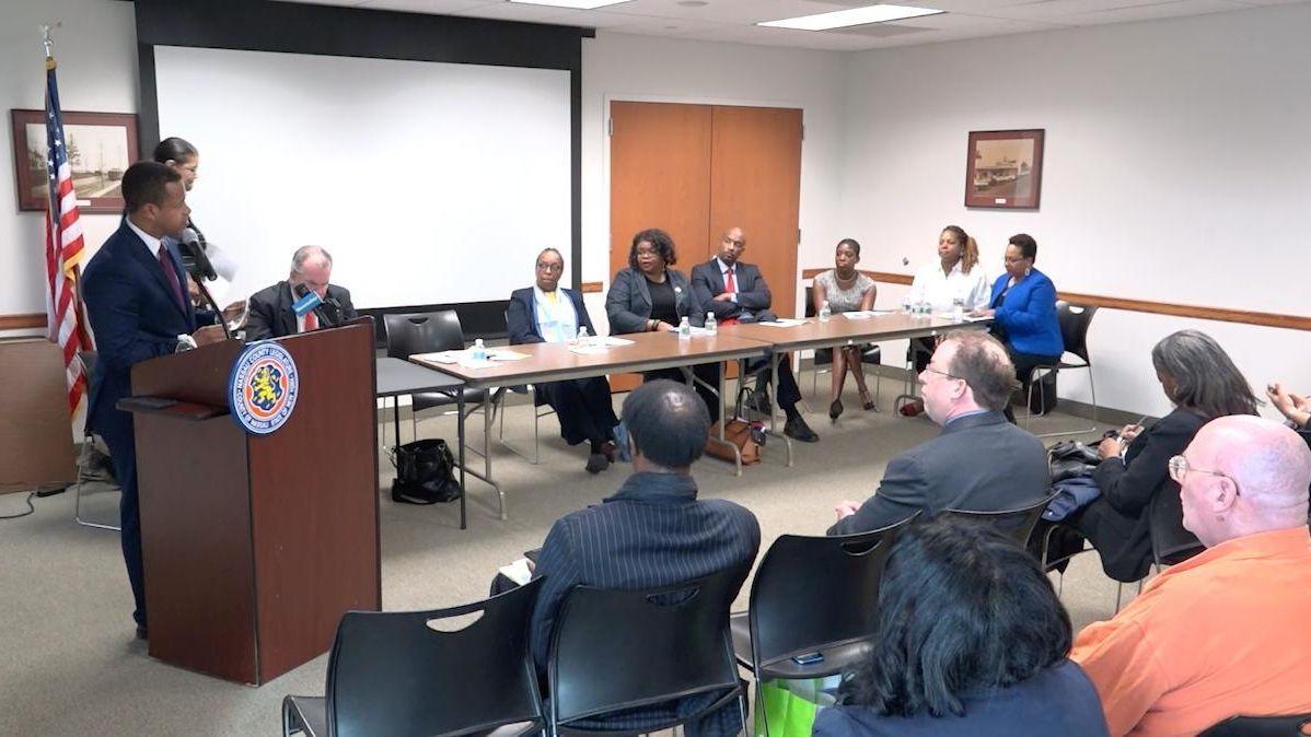 Nassau County Legis. Carrié Solages (D-Elmont) spoke on