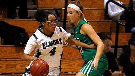 Jada Fernandez of Elmont High School drives to