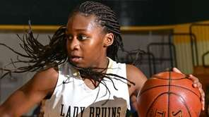 Kaia Harrison, #4, of Baldwin looks to get