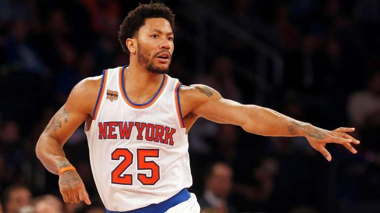 Derrick Rose #25 of the New York Knicks