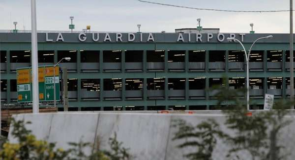 The LaGuardia Airport's Terminal B is shown in