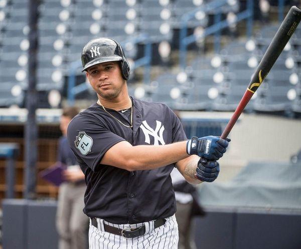 New York Yankees' Gary Sanchez prepares for batting
