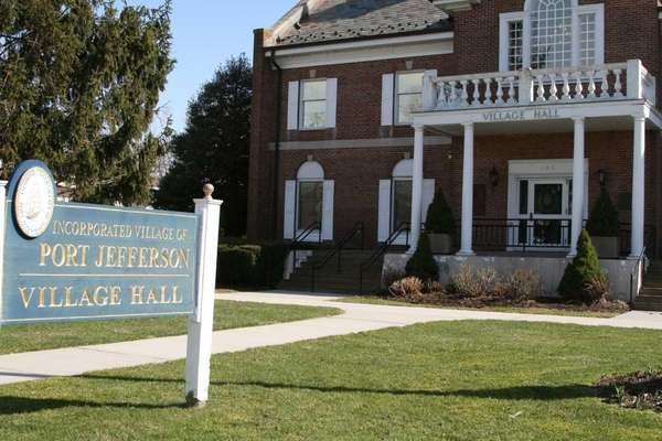 The Port Jefferson Village Hall is shown in