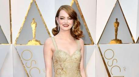 Emma Stone attends the 89th Annual Academy Awards
