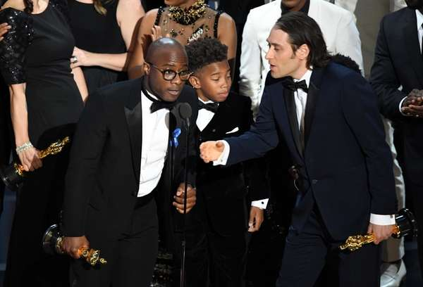 Director Barry Jenkins and the cast and crew