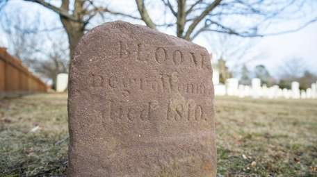 The headstone of