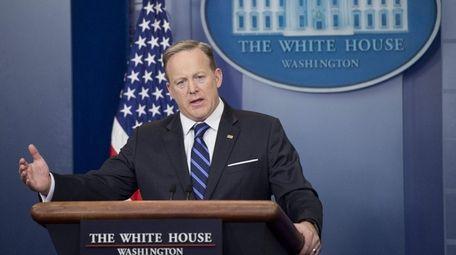 White House Press Secretary Sean Spicer at a