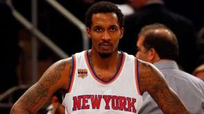Brandon Jennings of the New York Knicks looks