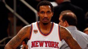 Brandon Jennings of the New York Knicks looks