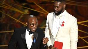 Writer/director Barry Jenkins, left, and writer Tarell Alvin McCraney