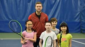 Tennis star Jack Sock with Kidsday reporters from