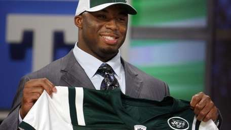 File photo of Vernon Gholston, who the Jets