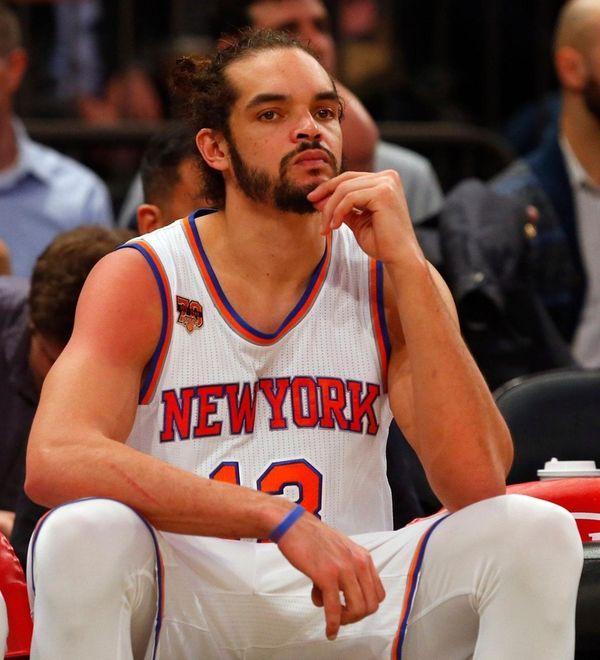 Joakim Noah of the New York Knicks looks