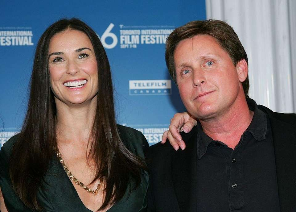 Demi Moore and Emilio Estevez dated for two