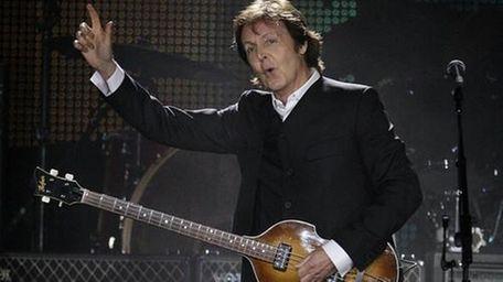 Paul McCartney performing at Citi Field. (July 17,