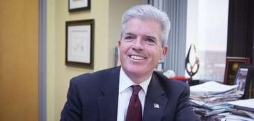Suffolk County Executive Steve Bellone in his office