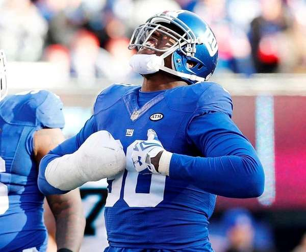 Jason Pierre-Paul #90 of the New York Giants