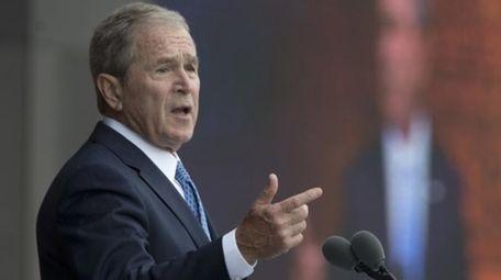 Former President George W. Bush speaks in Washington