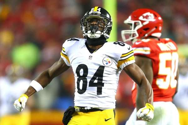 Wide receiver Antonio Brown, #84, of the Pittsburgh