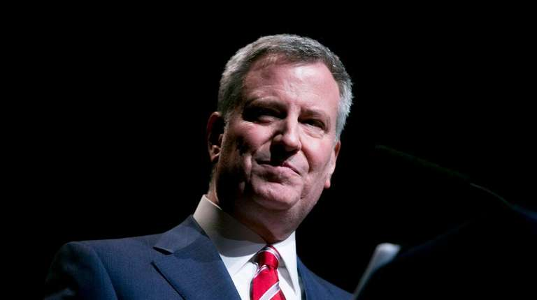 NYC Mayor Bill de Blasio said in a
