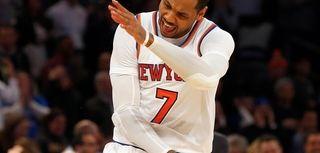 Carmelo Anthony, #7, of the New York Knicks