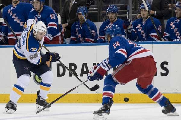 St. Louis Blues defenseman Kevin Shattenkirk (22) and