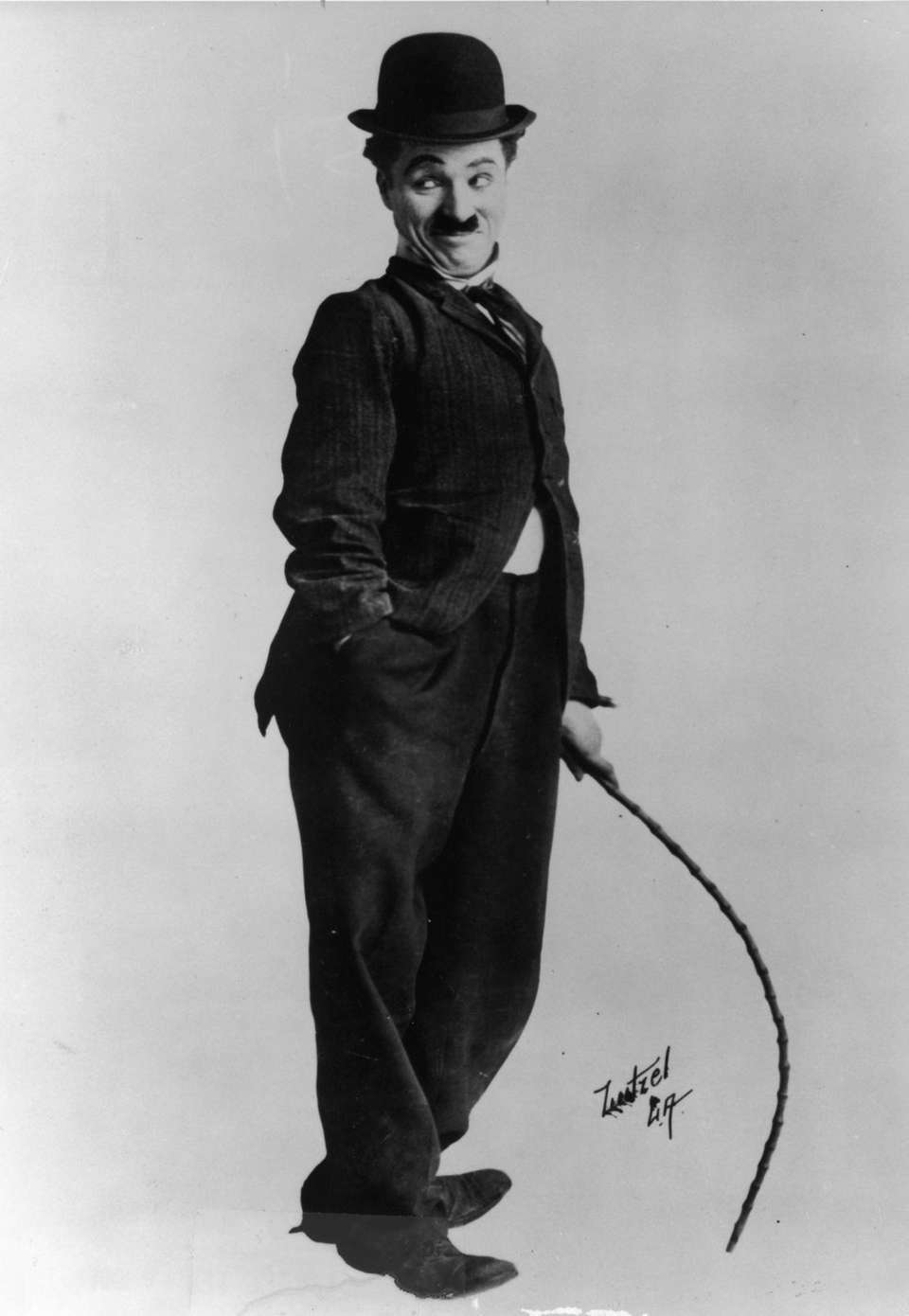 Iconic actor and filmmaker Charles Chaplin, whose career
