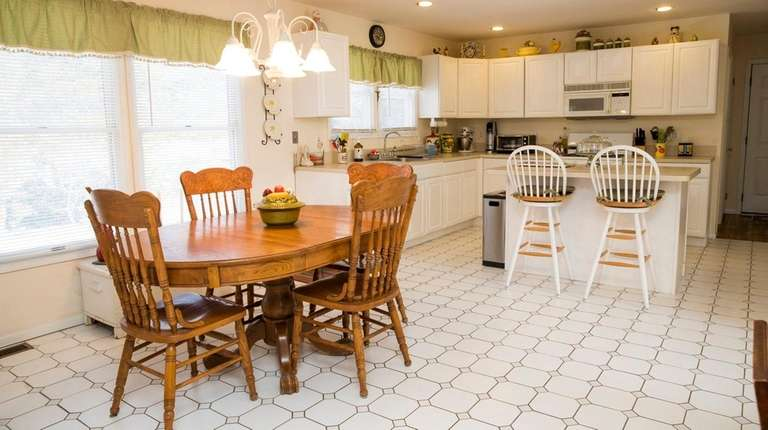 The kitchen-dining area of the Quinn home in