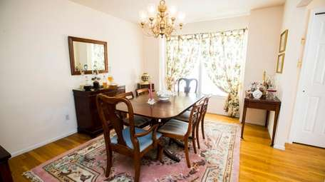 The formal dining room in the Quinn's home