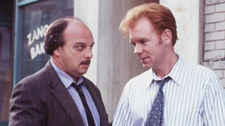 Dennis Franz, left, and David Caruso starred in