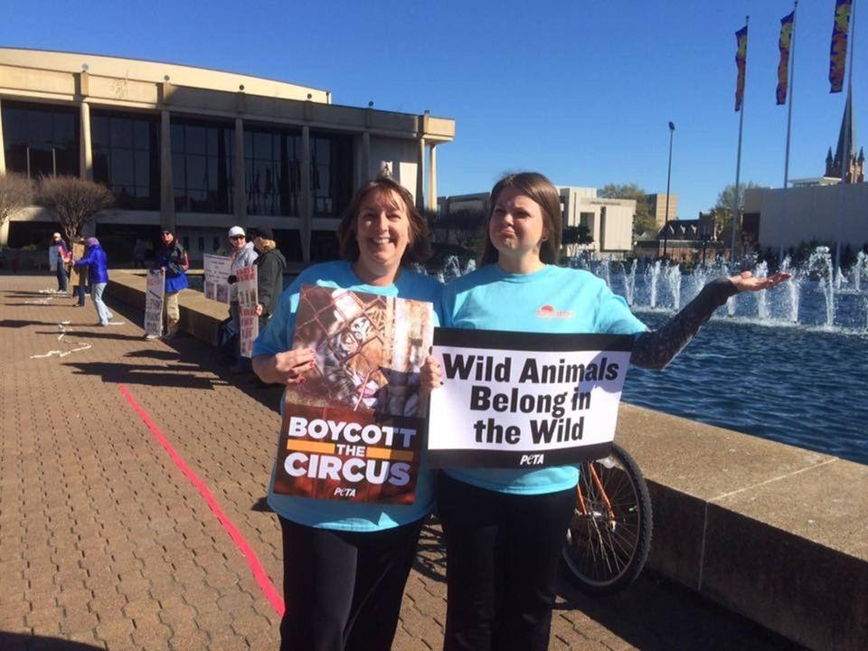 Kelly & Kat protesting in Norfolk, Virginia